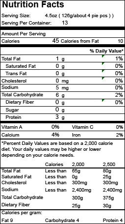 Nutrition Facts Item 02030